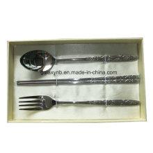 Juego de ollas con estilo titanio con China de hueso