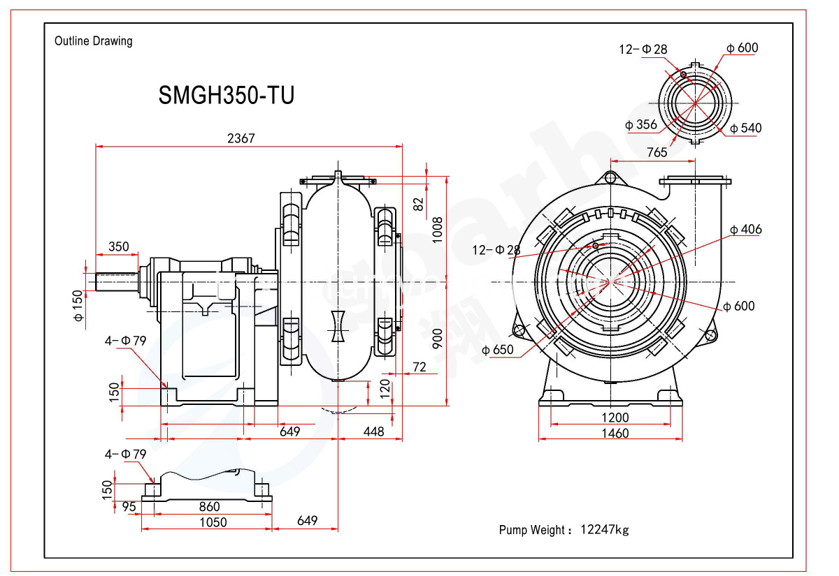 SMGH350-TU outline drawing