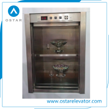 100kg Dumbwaiter, Small Loading Cargo Lift for Food Transportation
