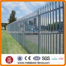 Spear Top Cercado de acero Cercado de riel Tipo W Palisade Metal Fence