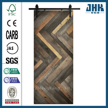 JHK Wood Barn Sliding Shaker Style Barn Door