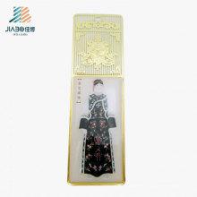 Поставка фабрики Китая Оптовая изготовленный на заказ золото закладки в металл для Омана