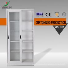 armários de metal com armário de arquivo de porta de vidro armário de aço
