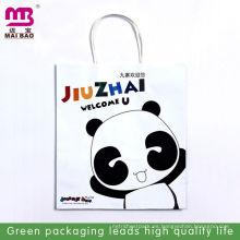 Bolsos de papel kraft blanco de diseño de moda para el té