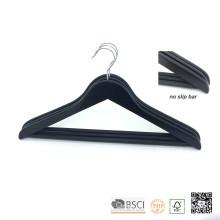 Barra de deslizamiento no negra ropa madera Top Coat Hanger