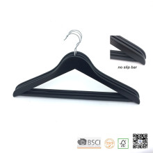 Vêtements en bois noir Non Slip Bar Top Coat Hanger