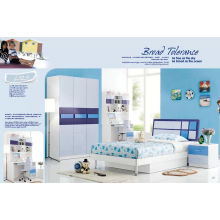 Blue Children Kd Furniture, MDF Bedroom Furniture (L123)