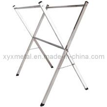 Rails à vêtements doubles en acier inoxydable rabattable X Style