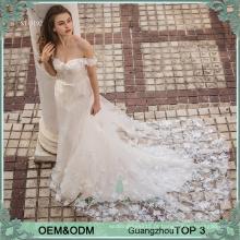 2016 modelo novo sereia barato vestido de casamento ombro para noivas