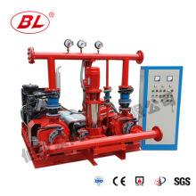 Unidad de suministro de agua de doble potencia con bomba diesel y eléctrica