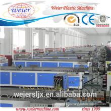 cerca de compuesto plástico de madera baranda perfil wpc decking de la cadena de producción entera