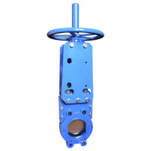 Wafer Type Knife Gate Valve with Handwheel, Rising Stem.