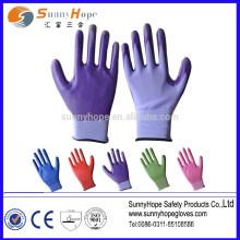 13 цветных нейлоновых нитриловых садовых перчаток