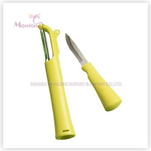 kitchen Multi-Purpose Stainless Steel ABS Fruit Peeler (22× 3.5× 2.3CM)