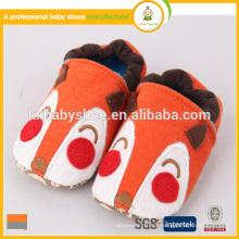 Fabricante 2015 best seller lovely animal patterns algodão tecido barato crianças sapatos de inverno
