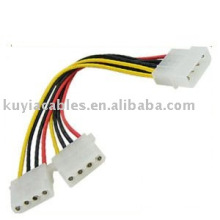 4 Pin Netzkabel Netzteil Splitter Verlängerungskabel