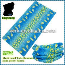 100% Polyester Fördernde heiße Verkaufsart und weise magische nahtlose Multifunktionsschlauch Gesichtsmaske bandana Schablone, LSB01