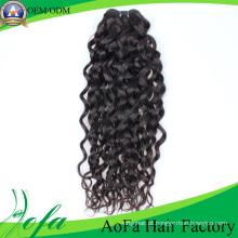 Trama não processada do cabelo do Virgin de Remy do cabelo humano de preço de fábrica