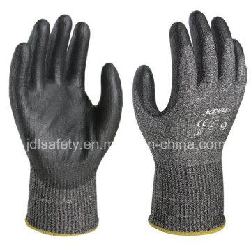 ANSI corte 4 guante de trabajo con la PU que sumerge (ND8098)