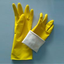Luvas de borracha coloridas de látex para limpeza doméstica