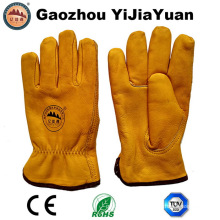 Safety Leather Winter Driver Gloves for Driving
