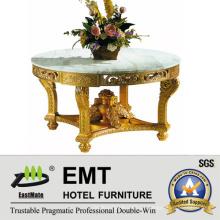 Gloden estilo honorável esculpindo mesa de madeira de madeira (EMT-FD04)