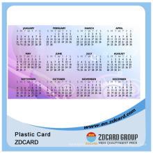 Cartão do aniversário do OEM / calendário Cartões do PVC do custo bonito e baixo