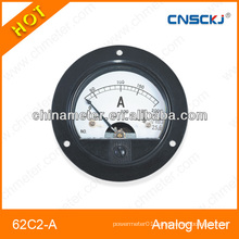62C2-A Round analog panel meters with glass cover