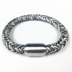 Handmade Stainless Steel Magnetic Clasp Mens Rope bracelet