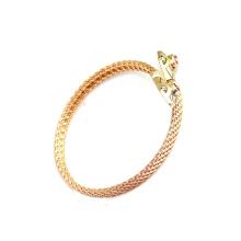 Модный дизайн серебра или 14k золото змея браслет с украшения с бриллиантами
