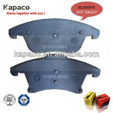 Plaquettes de frein composites Lignes professionnelles de plaquettes de frein pour plaquettes de frein automobile D1653-8882