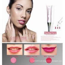 Brilho labial de cosméticos de maquiagem permanente 7 dias rosa mágico para cima (ZX-007)