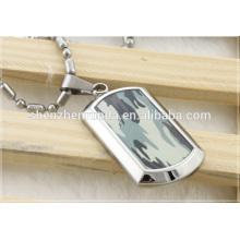Мода ювелирные изделия камуфляж подвеска собака тег кулон ожерелье для мужских ювелирных изделий