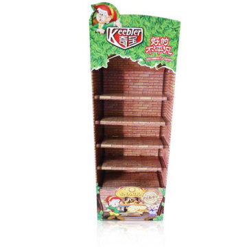 4c Printing Cardboard Display Rack with 5 Floors
