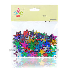 colorful small star sequins
