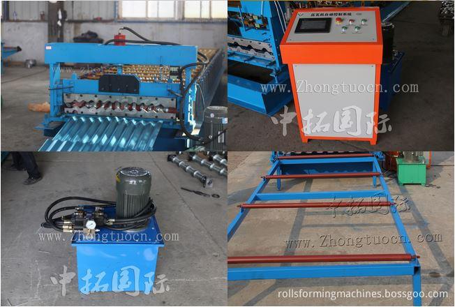 Corrugated board roll forming machine (12)