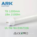 led tube lighting t8 18w TUV UL certification 1200mm hot-selling SMD2835/4ft UL CE T8 LED Tube Light