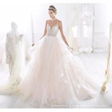 Robe de bal de mariage perles spaghetti