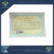 Hot Stamping Wartermark Security Certificate printing