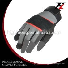 10G poliéster revestimiento de palma látex arrugas fina guante de seguridad mecánica baratos