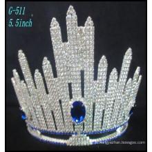 Casamento Prata jóias Tiara princesa Tiara Grande Rhinestone Crown coroa personalizado