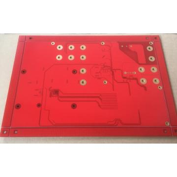 4 layer Red Solder PCB custom pcb manufacturer