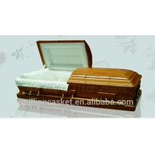 DH-034 antique oak funeral casket