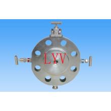 Válvula de bola Dbb de acero inoxidable con reborde superior ISO5211 para agua de gas