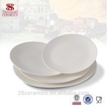 Plat chaud de vente d'os de porcelaine, plat ovale en céramique, plat en porcelaine