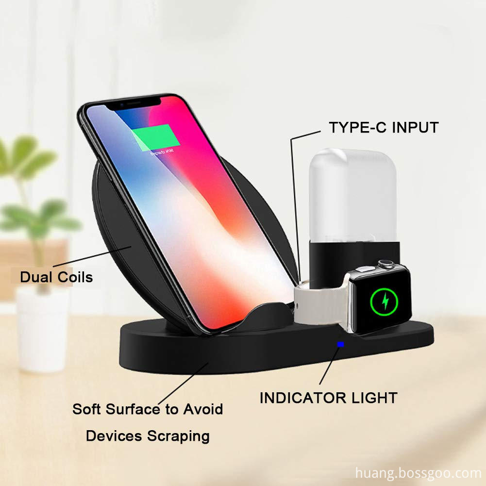 Wireless Charger Stand With Airpod/Phone/watch