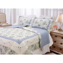 Домашний дизайн удобное лоскутное хлопковое одеяло с печатью на постельных принадлежностях (WSPQ-2016008)
