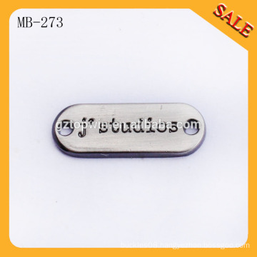 MB273 Make Sewing Metal Labels And Tags For Garment Copper Color With Black Paint