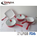 Aluminum ceramic kitchen cookware set
