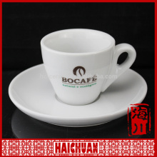 White ceramic bulk tea cup and saucer in various size and shape for wholesale
